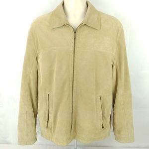 EDDIE BAUER Beige Suede leather jacket
